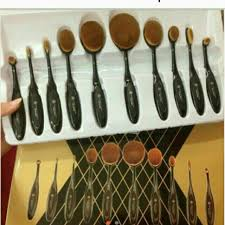 anastasia brush kit. anastasia oval brush set 10in1 kit a