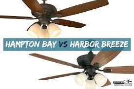 harbor breeze vs bay ceiling fans comparison remote manual