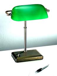bankers lamp shade replacement bankers lamp green halogen table antique desk bay glass shade replacement
