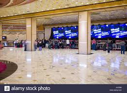 people in line at the hotel registration desk at the mgm grand hotel las vegas clark county nevada usa