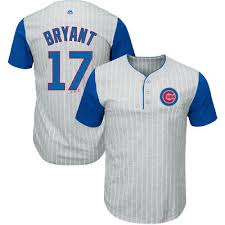 Chicago Cubs Majestic Mlb Mens From The Stretch Pinstripe