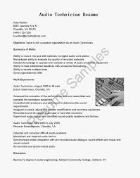 Brilliant Ideas Of Resume Audio Visual Technician Resume For Your Av