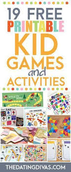 292 Best Free Printable Games Images Activities Infant Games