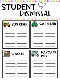 Dismissal Chart Dismissal Chart And Signs