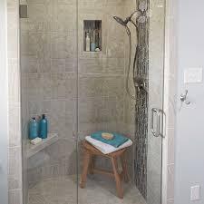 tile on the shower wall and tiled shower floors