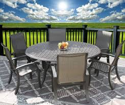 patio 7pc dining set for 6 person with 71 round table