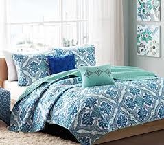 blue bedroom sets for girls. Boho Chic Teen Girls Blue Green Full Queen Quilt Medallion Damask Coverlet  Set + 2 Shams Blue Bedroom Sets For Girls