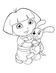 dora hugs dog