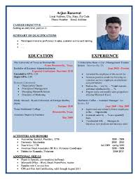 Resume Template Modern Cv Contemporary Sample For Download