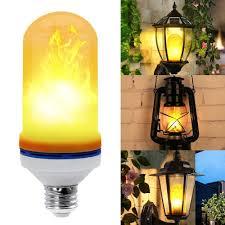 Deluxe Led Flame Effect Light Bulb E26 Led Flickering Flame Light Bulbs Led Simulated Decorative Light Atmosphere Lighting Vintage Flaming Light