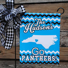 carolina panthers garden flag. Carolina Panthers Inspired Garden | Yard Sign Gift Personalized Chevron Mothers Flag