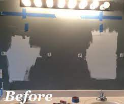 hollywood light with 2 vanity lights