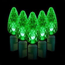 35 Light Strand Christmas Lights Crystal Cut Led Xmas 35 C6 Decorative Green Color Light Strand