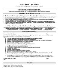 Resume Of A Recruiter Human Resource Recruiter Resume Recruiters