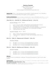 Examples Of Restaurant Resumes Fascinating Restaurant Server Resume Templates Andaleco
