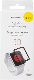 Купить <b>Защитный экран Red Line</b> Corning для Apple Watch 42 мм ...