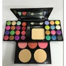 1 x make up palette set eyeshadow lip gloss foundation powder blusher puff tool