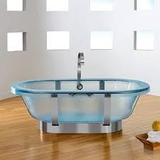 Some of the clear bathtubs on the market are completely transparent