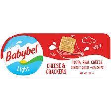 Babybel Cheese Light Nutrition Facts Mini Babybel Light Cheese With Multi Grain Cracker 3pk