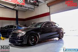 W204 Mercedes C63 AMG Coupe on HRE FF15 Tarmac Wheels