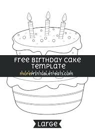 Birthday Cake Template Printable Butterfly Coloring Pages For Birthdays