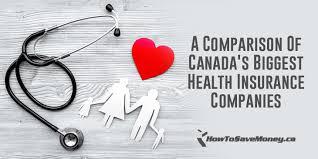 Health Insurance Comparison Chart Canada A Comparison Of Canadas Biggest Health Insurance Companies