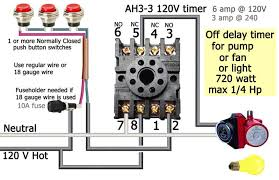 how to wire ah timer ah3 delay timer wiring push button