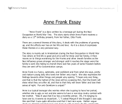 anne frank is a diary written by a teenage girl during the nazi document image preview