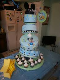 Baby Boy First Birthday Cake Ba Mickey Cake For Boy First Birthday