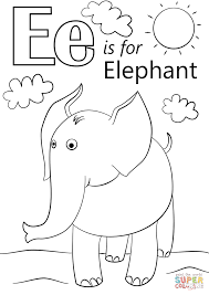 Letter E Coloring Page Letter E Is For Elephant Coloring Page Free ...