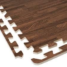 interlocking eva foam wood grain puzzle mat floor