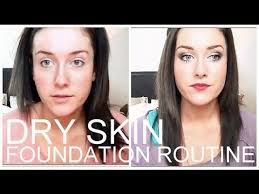 video how to get flawless foundation for dry skin tutorial