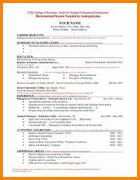 7 Resume Undergraduate Letter Signature
