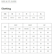 C Meo Collective Size Chart Buyinvite C Meo Do It Now Top