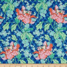 Amy Butler Home Decor Fabric Amy Butler Violette Field Poppy Sky Discount Designer Fabric