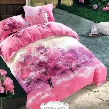 palm tree comforter sets queen pink bedding bed sheets quilt cover cotton printed chic bedroom textile