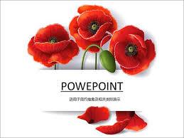 poppy template poppy flower ppt template ppt