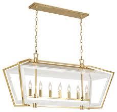 robert abbey casper 7 bulbs antique brass chandelier