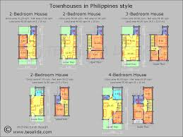 2 bedroom house floor plans philippines. townhouse floor plan 4-bedroom for philippines 2 bedroom house plans h