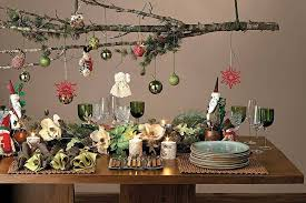 christmas-hanging-decorations-homemade-christmas-table-decorations -dining-room-buffet-decorating-ideas