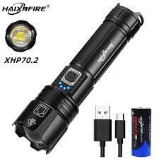 Đèn Pin Led Siêu Sáng Haixnfire H38 Xhp70 Có Cổng Sạc Usb tại Nước ngoài