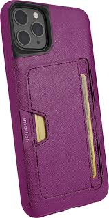 Smartish iPhone 11 Pro Max Wallet Case Vol. 2 - Credit Card Holder (Silk) -  Purple Reign