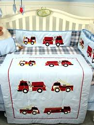 firefighter crib bedding boys fire truck crib set blue red plaid nursery bedding decor diaper bag