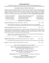 Objective For Teaching Resume Teacher Within How To Write A 25