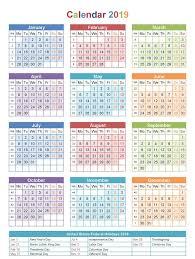 Calendar 2019 Printable With Holidays Free Printable Blank Calendar 2019 With Usa Holidays Download
