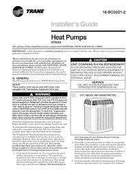 Trane 4twx6036b Heat Pump User Manual Manualzz Com
