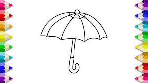 This umbrella coloring page features a picture of an umbrella to color for spring. Umbrella Coloring Pages Umbrella Coloring Book For Kids Umbrella Coloring Page For Kids Youtube