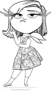 coloring pages inside out coloring pages disgust page to print for kids unicorn