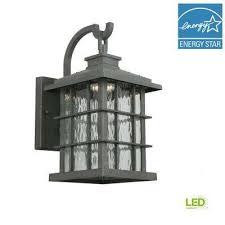 wrought iron sconces. Beautiful Iron Summit Ridge Collection Zinc Outdoor Integrated LED DusktoDawn Medium  Wall Lantern With Wrought Iron Sconces C