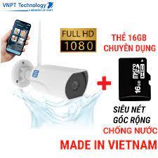 Camera IP Wifi ngoài trời VNPT Technology ONE HOME HVOF02 chống nước kèm  thẻ 16Gb hàng Việt Nam - Hệ thống camera giám sát